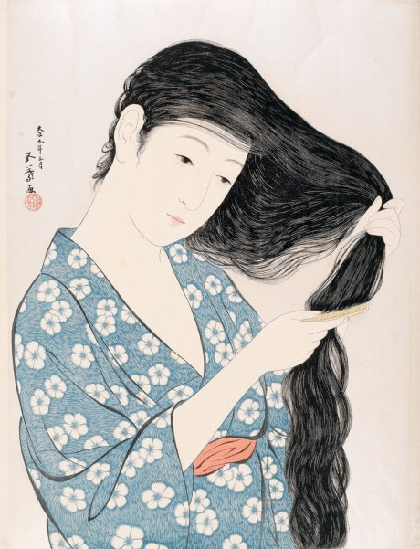 Hashiguchi_Goyo_18801921_Combing_Hair_Japan_1920_Woodblock_printHMA