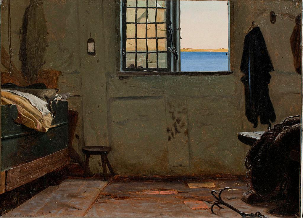 Christen_Dalsgaard_-_A_fisherman's_bedroom_-_Google_Art_Project