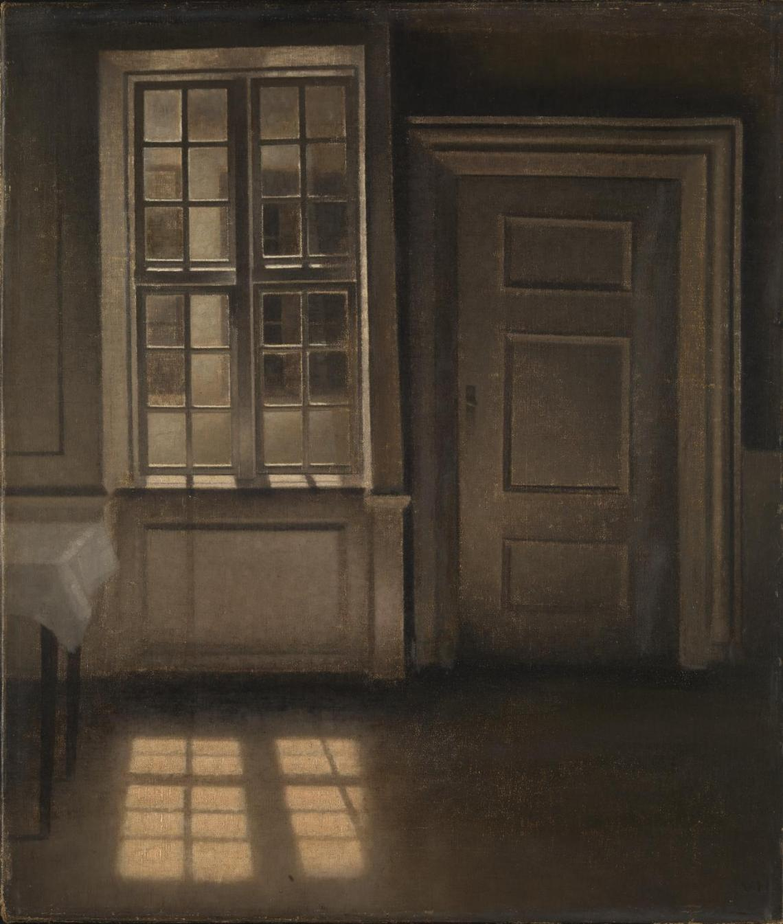 Interior, Sunlight on the Floor 1906 by Vilhelm Hammershoi 1864-1916