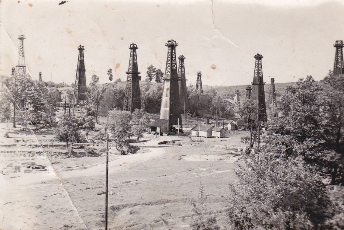 Moreni oil field old rare photo from 1920