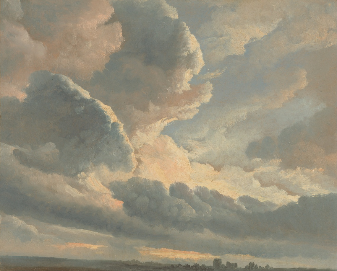 Simon_Alexandre_Clément_Denis_(Flemish_-_Study_of_Clouds_with_a_Sunset_near_Rome_-_Google_Art_Project